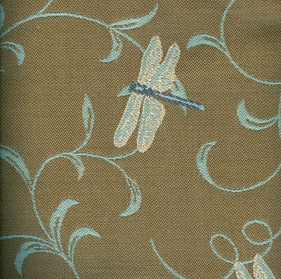 Dragonfly Twirl Linen Exclusive Outdoor Fabrics By