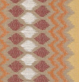 Indonesian Ikat Fireside Red
