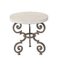 Florentine Round End Table