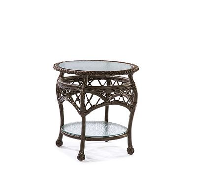 Round End Table Clear Glass