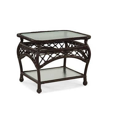 Rectangular End Table Clear Glass