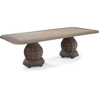 46 X 96 Dbl Pedestal Dining Tbl W/Grfc Top