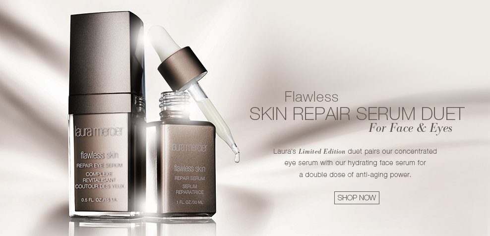 NEW Flawless Skin Repair Serum Duet for Face and Eyes