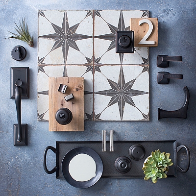 New Decor Trends in Hardware - Bronze with Brushed Nickel