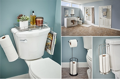 You've got an unused storage space: your toilet.