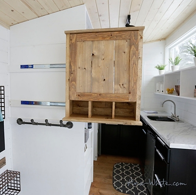 Slide out cabinet for tiny house - designed and built by Ana White