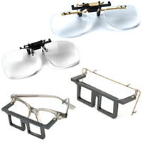 Telesight Frames & Clip On Magnifers