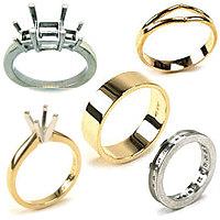 Bands, Ring Mountings, Shanks & Solitaires