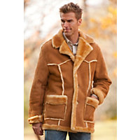 Men's Rancher Shearling Sheepskin Coat, STONEY, Size LARGE (42-44)