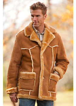 Men's Rancher Shearling Sheepskin Coat (Big)