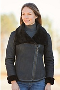 Women's Spin Moto Shearling Sheepskin Jacket