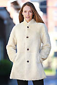 Women's Link Reversible Carved Shearling Sheepskin Coat