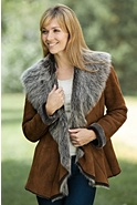 Women's Maggie Shearling Sheepskin Jacket with Toscana Trim