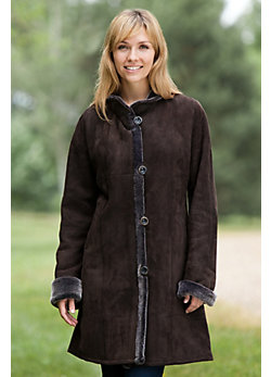 Women's Sacha Shearling Sheepskin Coat