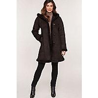 Women's Krista Shearling Sheepskin Coat, Ebony (Dark Brown), Size 2 Western & Country