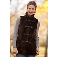 Women's Danby Sheared Beaver Fur Vest, Brown, Size Small (8) Western & Country