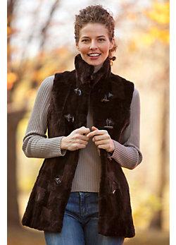 Women's Danby Sheared Beaver Fur Vest