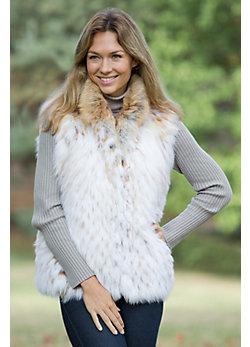 Women's Cammie Fox Fur Vest