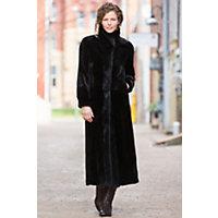 Women's Marietta Reversible Sheared Mink Fur Coat, Black, Size 6 Western & Country