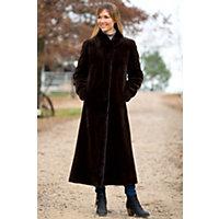 Women's Marietta Reversible Sheared Mink Fur Coat, Brown, Size 2 Western & Country