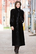 Women's Marietta Full-Length Reversible Sheared Mink Fur Coat