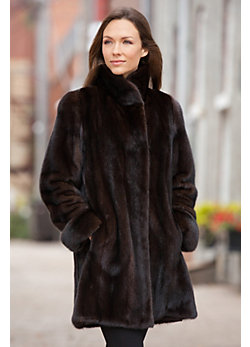 Women's Christiana Long-Haired Mink Fur Coat