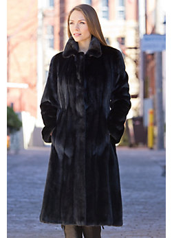 Augusta Long-Haired Mink Fur Coat