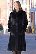 Women's Augusta Long-Haired Mink Fur Coat