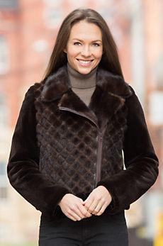Delphine Danish Mink Fur Biker Jacket