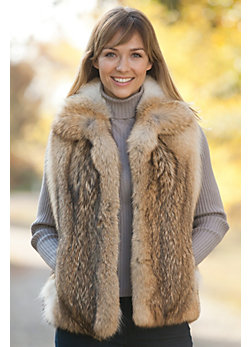 Women's Deandra Coyote Fur Vest