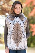 Women's Petra Lynx Fur Vest