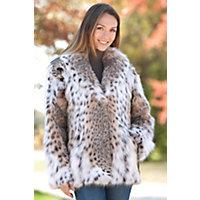 Women's Maliya Lynx Fur Jacket, Natural, Size Medium (10) Western & Country