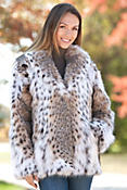 Maliya Lynx Fur Jacket