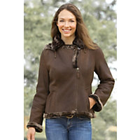 Women's Stella Shearling Sheepskin Jacket, Antique Frost, Size Small (6) Western & Country