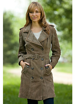 Women's Monroe Suede Trench Coat