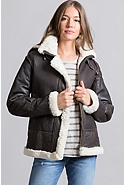 Women's Jane Sheepskin B-3 Bomber Jacket