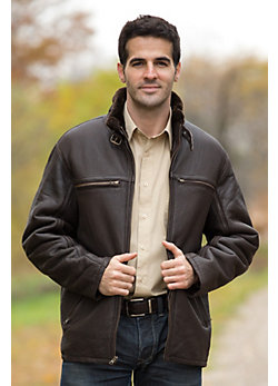 Men's Clayton Shearling Sheepskin Car Coat