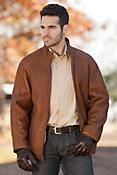Men's Drake Zip-Front Shearling Sheepskin Coat