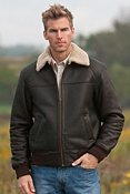Men's Charles Shearling Sheepskin Bomber Jacket