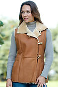 Women's Reyna Shearling Sheepskin Vest