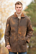 Men's Apache Distressed Shearling Sheepskin Jacket