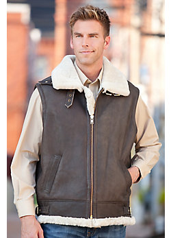 Men's Jim Sheepskin Bomber Vest
