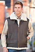 Jim Sheepskin Bomber Vest