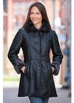 Diana Shearling Sheepskin Coat