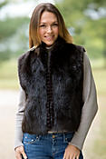 Lizette Long-Haired Beaver Fur Vest