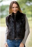 Lizette Long-Haired Beaver Fur Vest