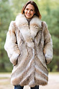 Women's Gia Coyote Fur Coat