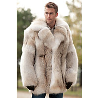 Men's Zack Coyote Fur Coat, Natural, Size 44 Western & Country