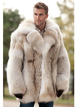 Men's Zack Coyote Fur Coat