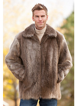 Men's Brayman Long-Haired Beaver Fur Coat